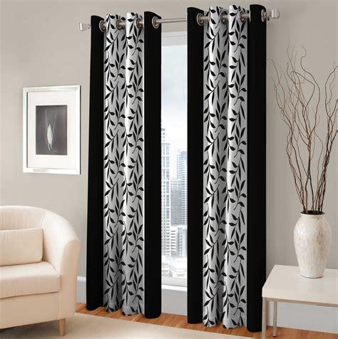 optimistic home furnishing polyester black floral eyelet