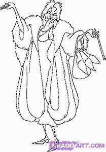 Step 8 How To Draw Cruella De Vil From 101 Dalmatians
