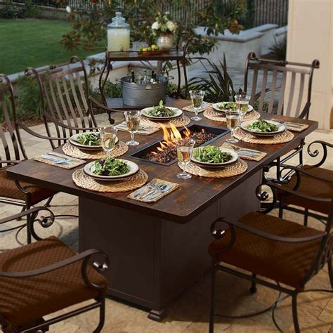 images  fire pit dining table  pinterest