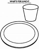 Coloring Plate Lunch Pages Crayola Empty Dinner Glass Drawing Eat Cup Drink Healthy Eating Sheets Whats Colouring Sheet Crayons Water sketch template