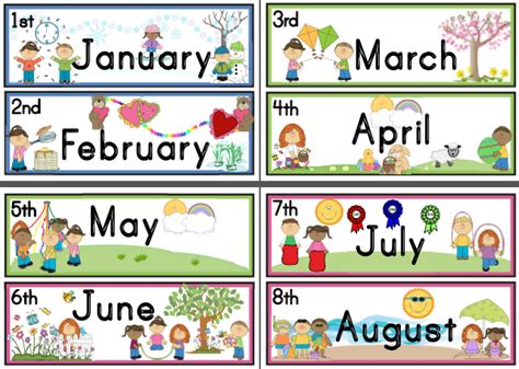 months of the year free clipart collection 938 | months of the year free clipart 4