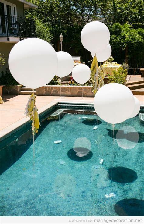 deco piscine ballon