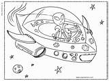 Alien Spaceship Coloring Pages Getcoloringpages Printable sketch template