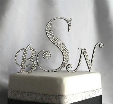 initial monogram cake topper   letters                p