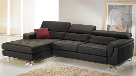 canapé d angle noir cuir canapé d 39 angle gauche cuir noir pas cher