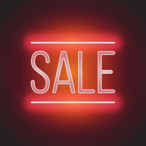 Neon Sale Sign Illustration - Download Free Vectors ...