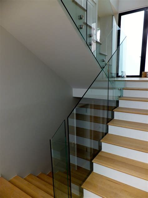Glass Stair Rail  Larchmont Ny  Us Glass Fence