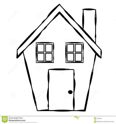 Haus Skizze Einfach by Einfache Haus Zeile Kunst Stock Abbildung Illustration