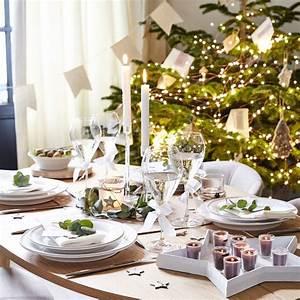 Table De Noel Blanche : deco noel blanc c t maison ~ Carolinahurricanesstore.com Idées de Décoration