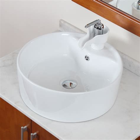 ELITE High Temperature Grade A Ceramic Bathroom Sink With
