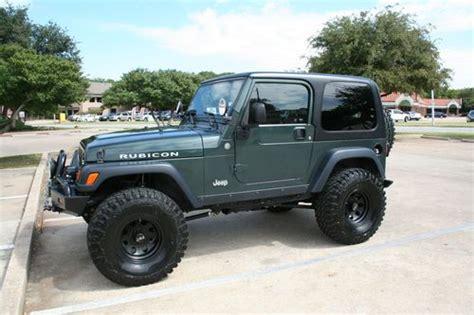 dark green jeep buy used 2004 jeep wrangler rubicon dark green in fort