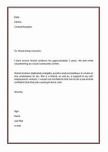 personal letter of recommendation template microsoft With free letter of recommendation template word