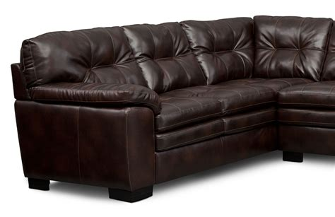 magnum  piece sectional   facing sofa brown