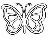 Butterfly Outline Coloring Printable Drawing Popular sketch template
