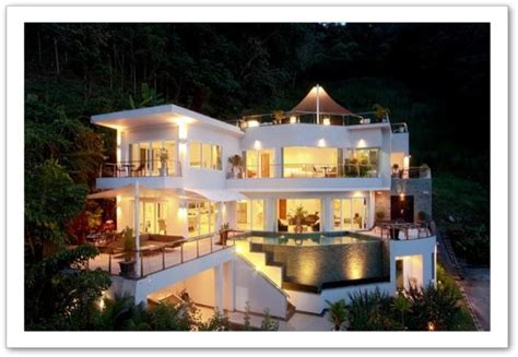 chambre vue sur mer grande villa moderne en thaïlande