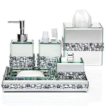 Mirrored Bathroom Accessories Sets by Each Is A Surround Of Sparkly Beveled Mirror