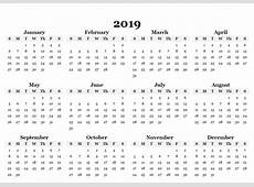 Online Printable 2019 Canadian Calendar Template Paper