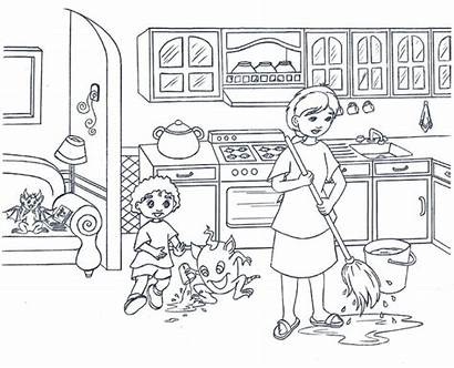 Coloring Kitchen Pages Clean