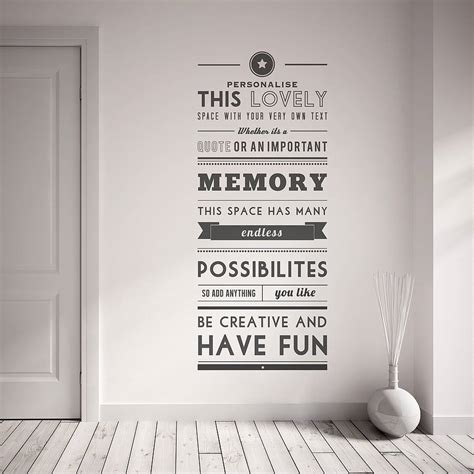 Decorative Quotes - personalised quote wall sticker by oakdene designs