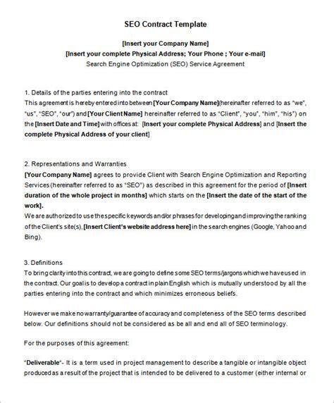 seo contract templates    premium