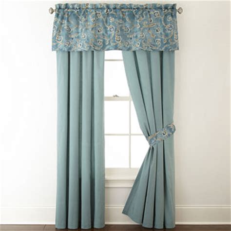 jcpenney home belcourt 2 pack rod pocket curtain panels