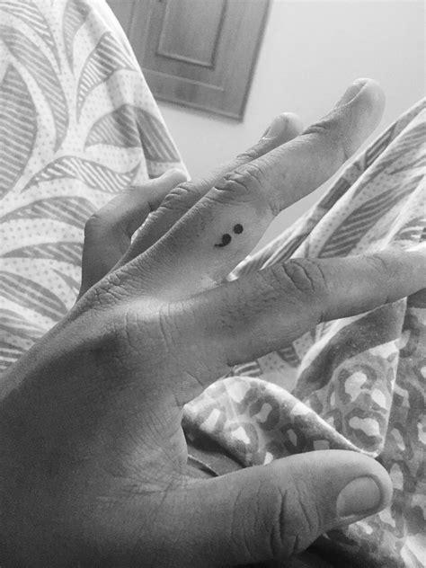 Semi colon #Finger tattoo | Finger tattoos, Cool tattoos