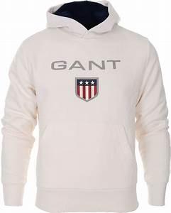 White gant hoodie