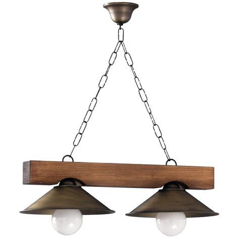 lampara de techo rustica viga de madera  luces