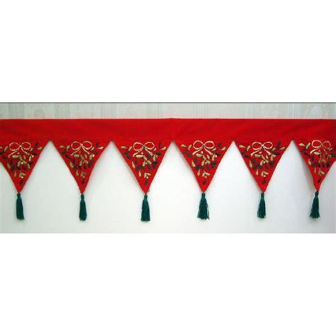 peggy wilkins mistletoe christmas mantle runner 28cm x