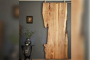 Barn Door Slab - Custom Made Live Edge American Elm Slab