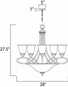 Nova 7-light Chandelier - Multi-tier Chandelier