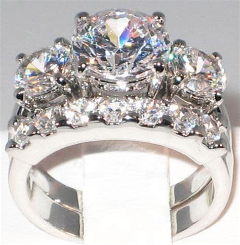 ct bold  present future cz bridal engagement