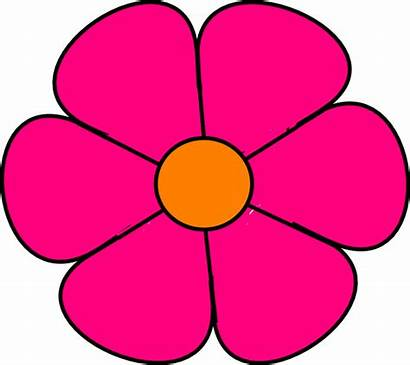Flower Pink Clip Clipart Cliparts Clker