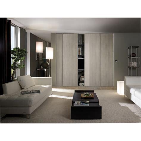 pack de 2 portes coulissantes optimum gris cendr 233 h 250 x l 180 cm porte de placard