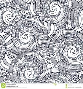 Carpet Textile by Vector Spiral Decorative Doodles Pattern Stock Vector