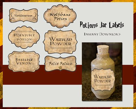 Potion Label Template - Costumepartyrun