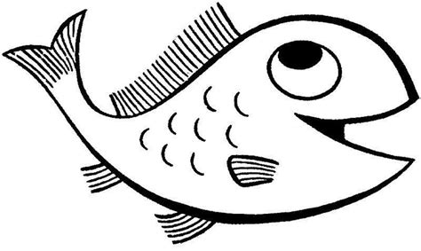 fish coloring pages for preschool and kindergarten 854 | fish coloring page for kids