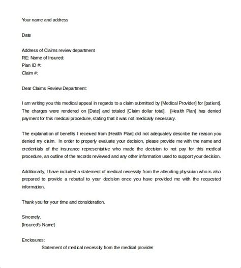 how to write a letter of appeal letter of appeal sle template learnhowtoloseweight net