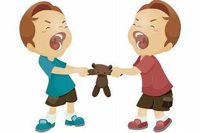 Selfish Clipart Fighting Toys Care Steal Someone