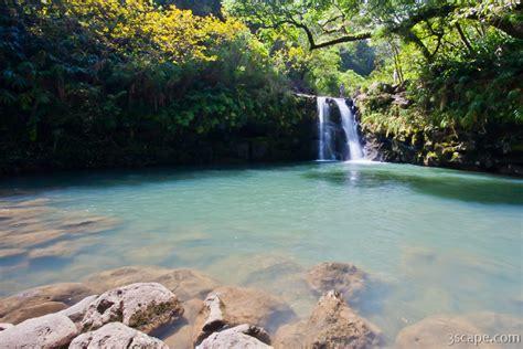 waterfall   road  hana photograph fine art