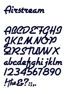 free airstream 50s retro font typography fonts pinterest
