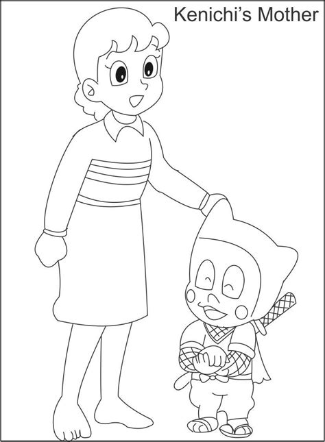 kenichis mother coloring page  kids