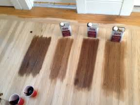 floor stain left to right all duraseal walnut special walnut antique brown
