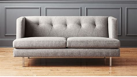 avec grey apartment sofa  brushed stainless steel legs