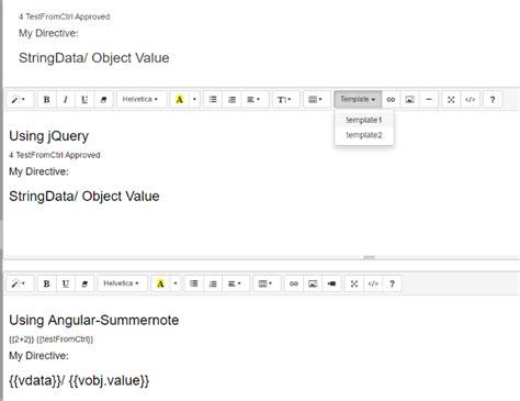 angular directive template javascript summernote insert template with angular directives stack overflow