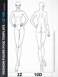 fashion figure fashion design body template 2z10d With fashion templates front and back female