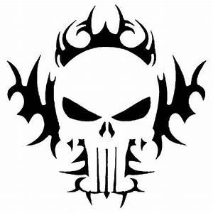 Tribal Skull Stencil For Airbrush Tattoo Craft Art