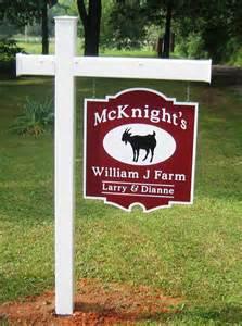 Goat Farm Signs
