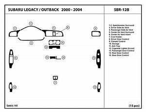 Subaru Outback Dashboard Diagram