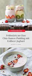 Chia Samen In Joghurt : fr hst ck im glas chia samen pudding mit erdbeer joghurt smothies pinterest ~ Orissabook.com Haus und Dekorationen